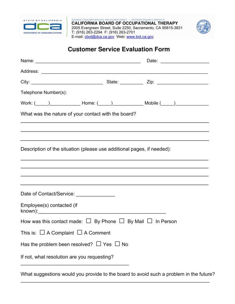 Customer service evaluation essay