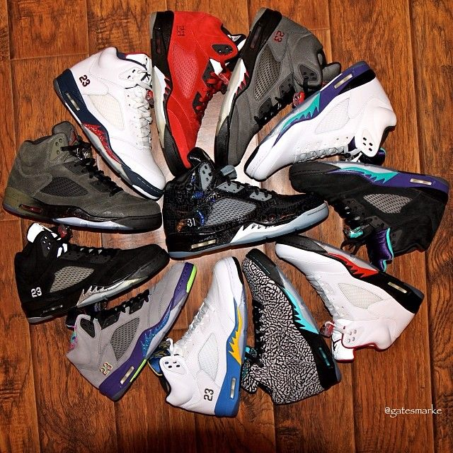 Lots of stypes of Jordan 5,which one u like?lots of shoes ,