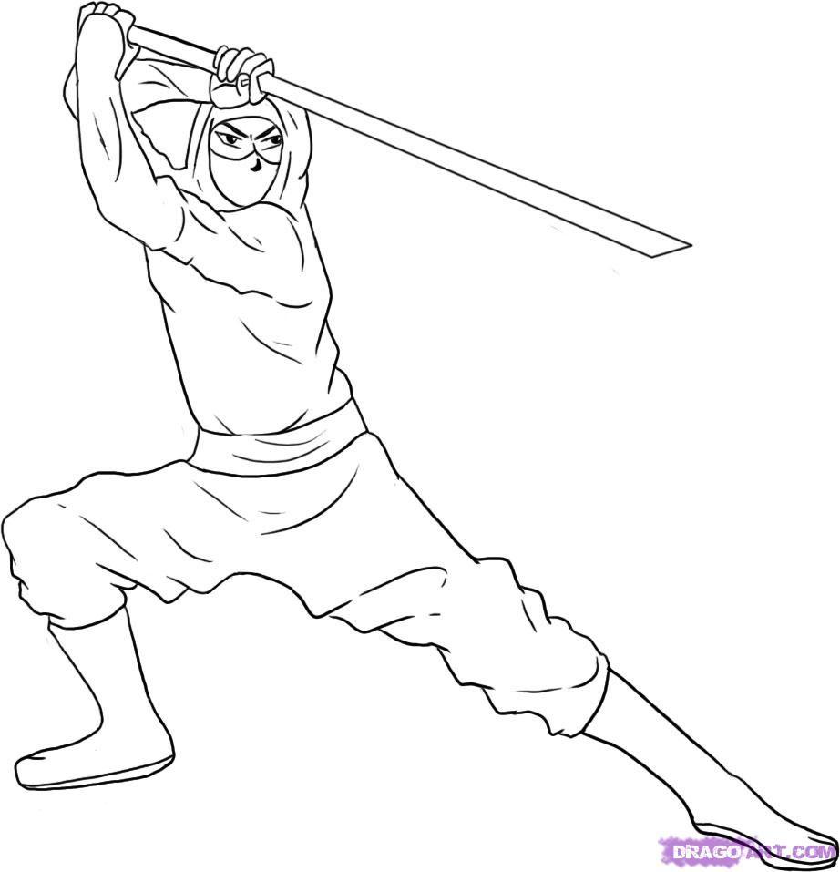 nice Ninja Coloring Pages Printable : Ninja Coloring Pages For ...