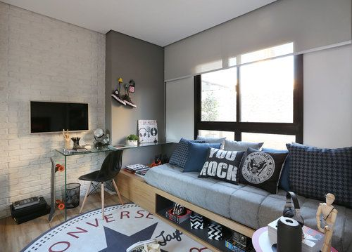 Teen Bedroom, Boy Bedrooms, Bedroom Ideas, Fernanda Marques, Rock Room,  Kids Office, Room Decorations, Kids Rooms, Luxury Homes Part 81