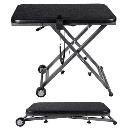 Portable Electric Lift Grooming Table By Comfortgroom By Comfortgroom 449 00 Height Adjustment Of 25 To 32 W Table Dimensions Mobile Pet Grooming Grooming