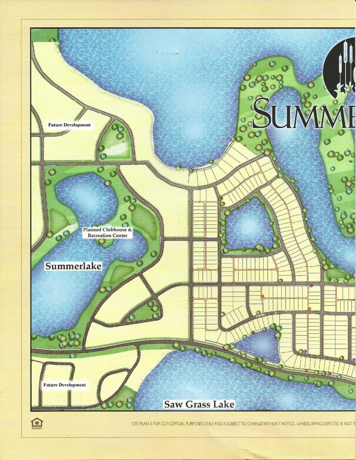 summerlake center line homes east side site plan in winter garden