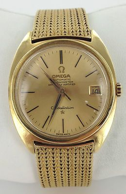 omega watches men gold