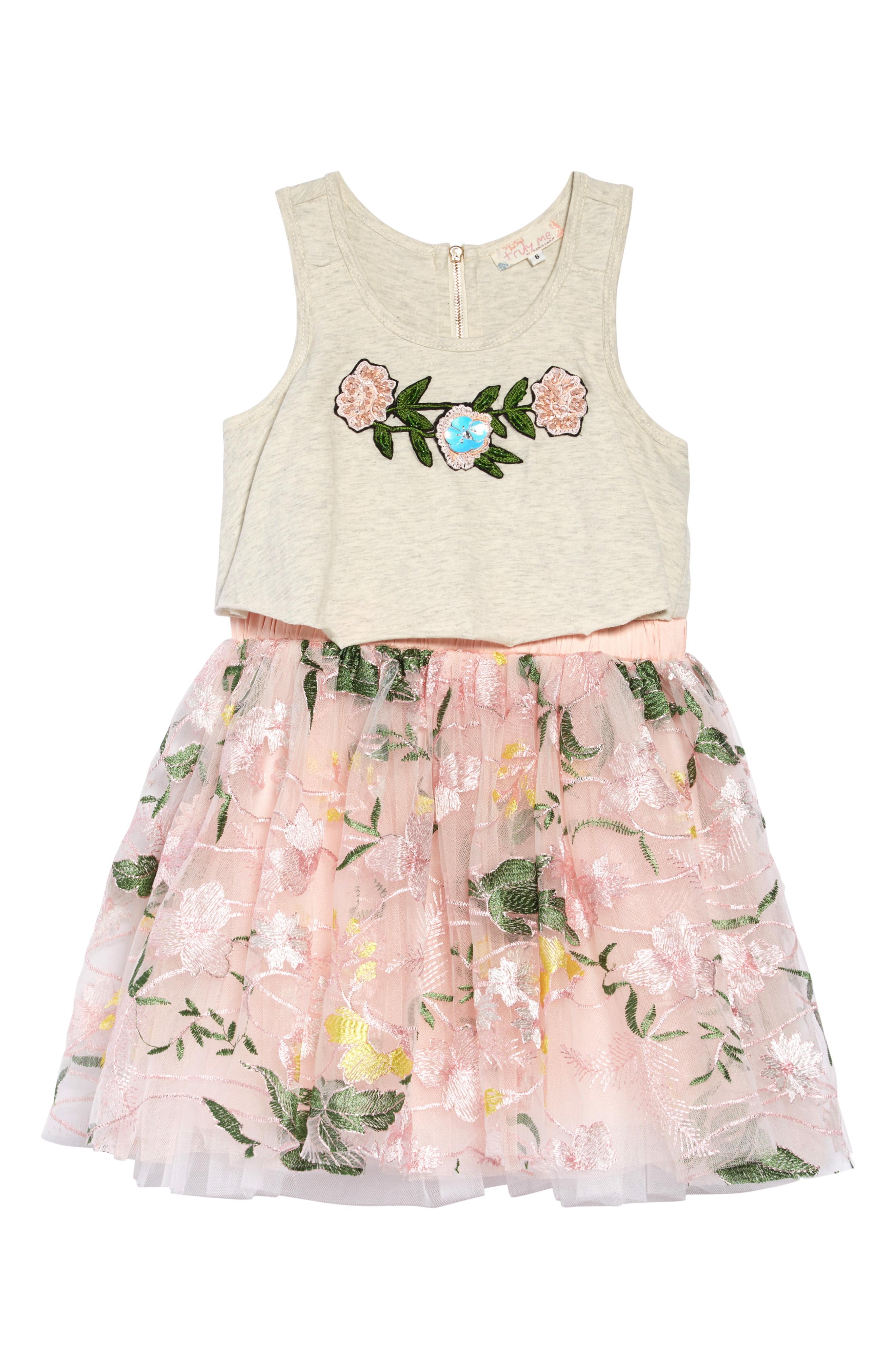 Truly Me Embellished Mock Two Piece Dress Toddler Girls Little Girls Nordstrom Toddler Girl Dresses Two Piece Dress Piece Dress [ 4048 x 2640 Pixel ]