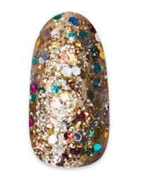 Gold and Rainbow Glitter Mani from PaintBox