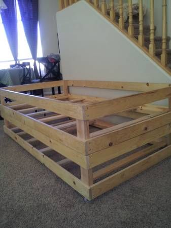 pull out bed sofa children s chesterfield uk twin stacking $50 - obo this is a homemade ...