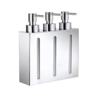 Orren Ellis Chiodo Three Container Soap Amp Lotion Dispenser