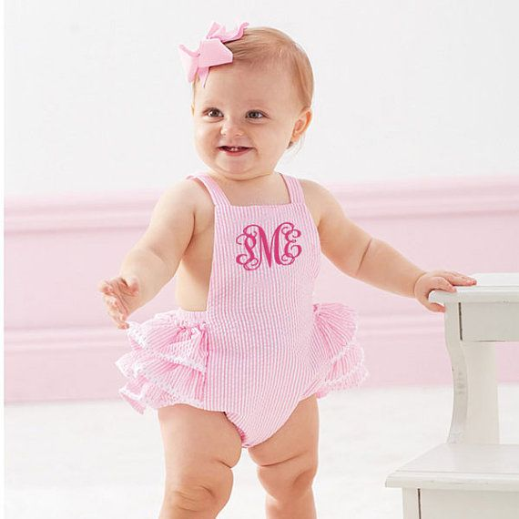d8b1b03ebf1 Darling Monogrammed Romper   Hat Set by DarlingCustomDesigns ...