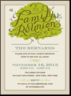 what a cute way to get ready for a family reunion! Paper is pretty ...