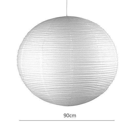 Ambient Modern Large 90cm White Round Sphere Globe Shaped Chinese Paper Lantern Ceiling Pend Lantern Pendant Lighting Paper Light Shades Lantern Ceiling Lights