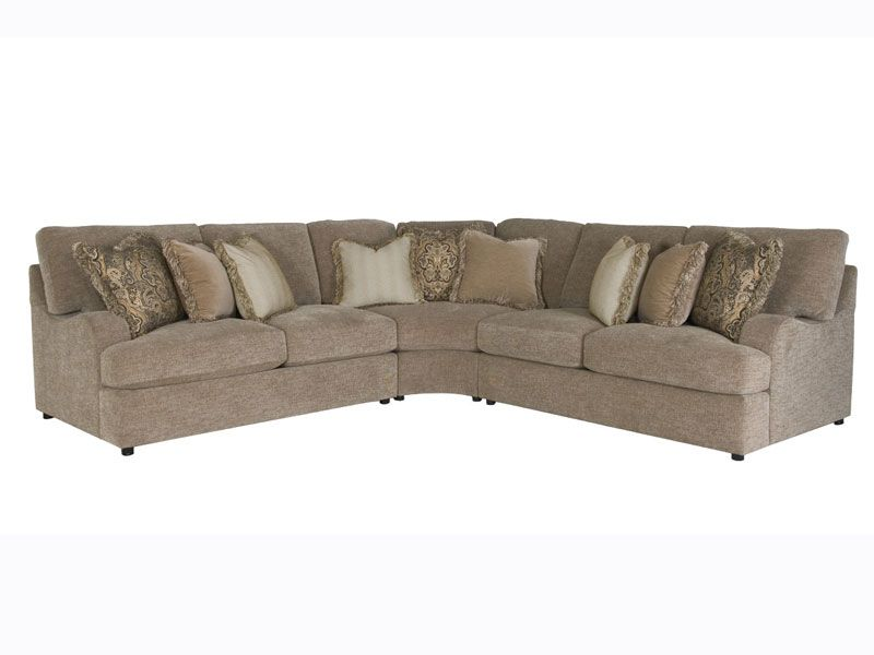 Bernhardt Eagan 3pc. Sectional | Leather sectional sofas ...