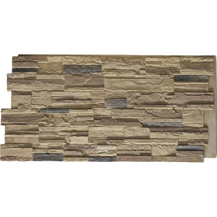 Ekena Millwork Cascade Stacked Stone 8 Sq Ft Colfax Faux Stone Veneer Pnu24x48caco In 2020 Faux Stone Siding Stone Siding Panels Stone Panels
