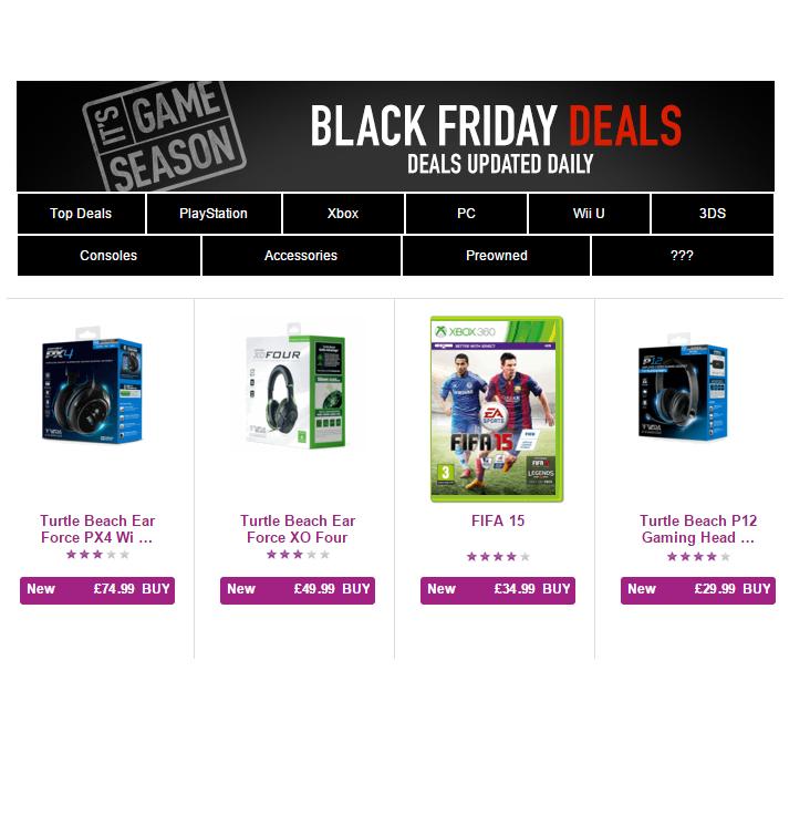 BLACK FRIDAY Game Sale Has Started - Gratisfaction UK Bargains #blackfriday #game