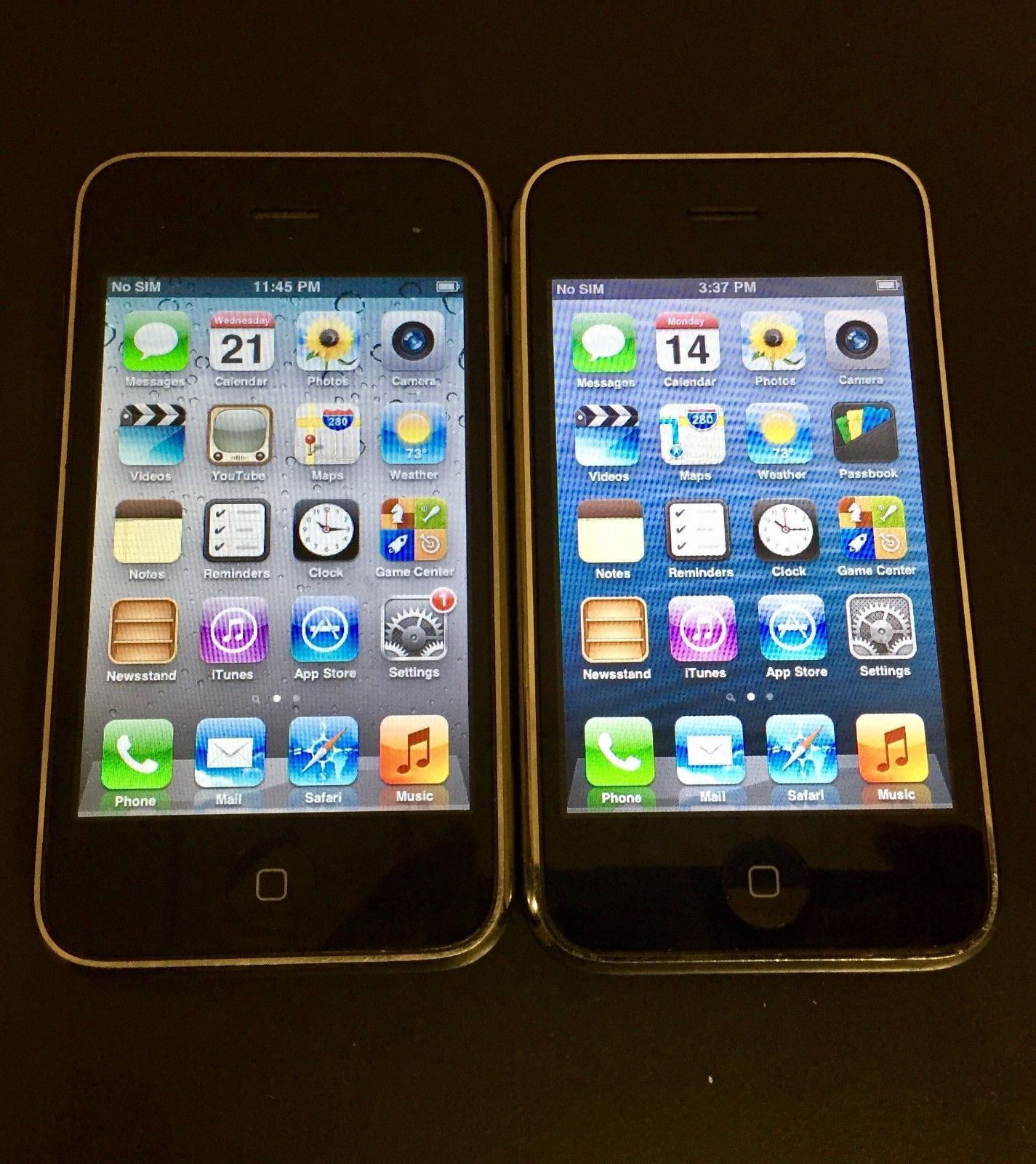 Lot of 2 USED Apple iPhone 3GS 16GB & 8GB - Black (AT&T) Smartphone