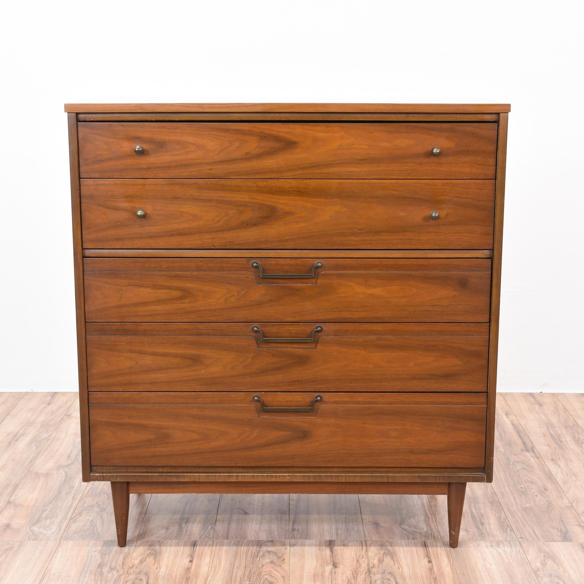 Best Mid Century Modern Walnut Highboy Dresser Midcentury 400 x 300