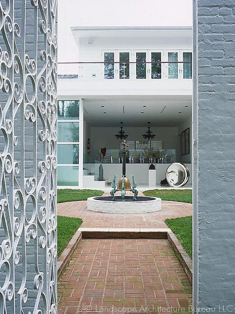 Levinas Residence, entry gates by labindc, via Flickr