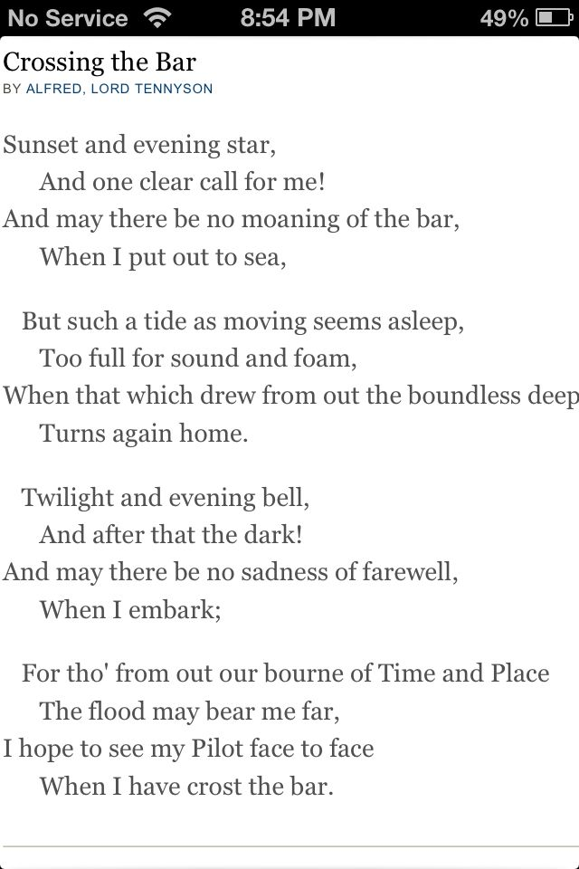 Crossing The Barr By Alfred Lord Tennyson Alfred Lord Tennyson Poems Lord