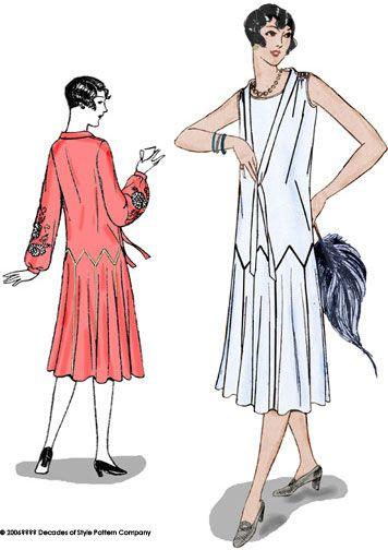 Pattern of a 1925 dress