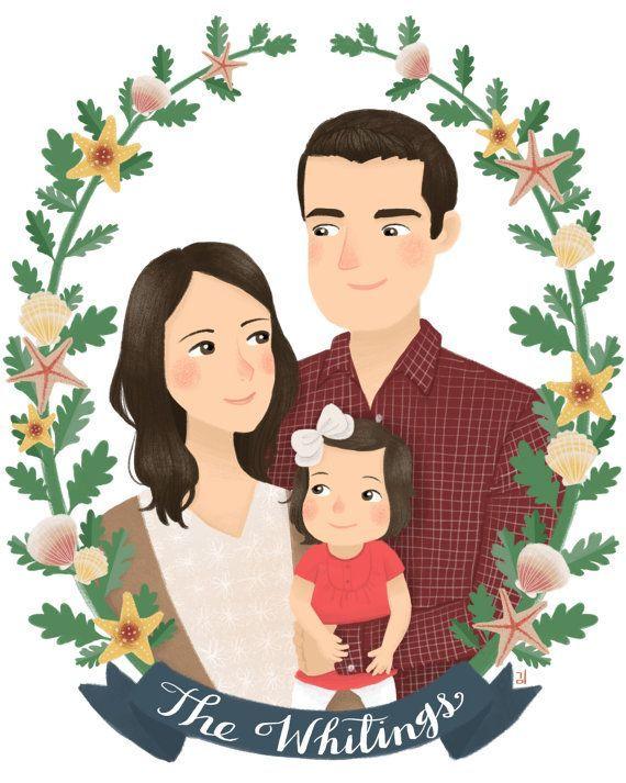 Мультяшные картинки я и моя семья