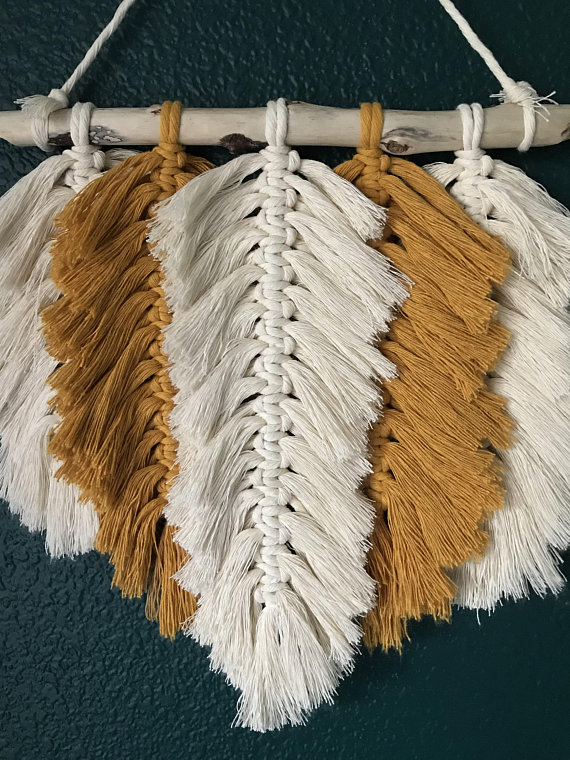 Macrame Feather Wallhanging Or Make A Dreamcatcher