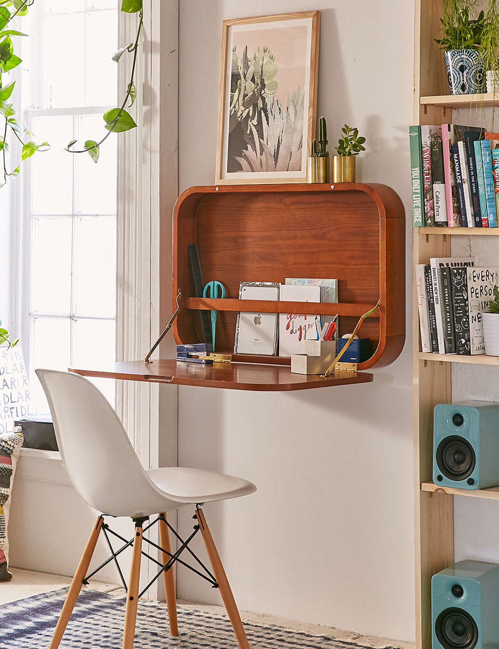 7 Stylish Ways To Make The Most Of A Small Office Space Small Apartment Furniture Small Apartment Decorating Apartment Furniture