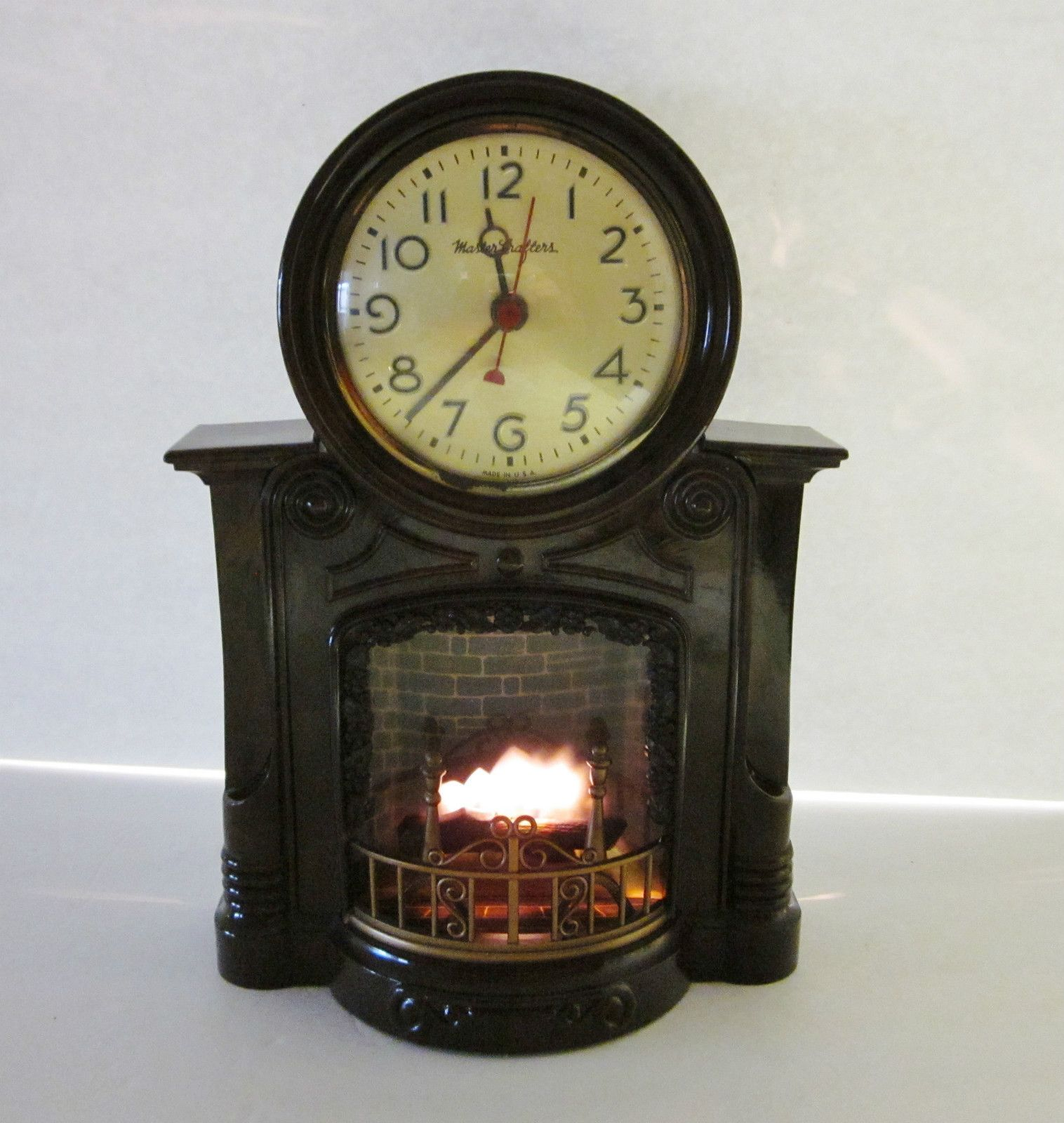 Cool Cuckoo Clocks Vintage Mastercrafters Bakelite Fireplace Motion Clock