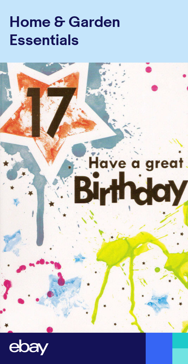 Male 17th Happy Birthday Card Age 17 Today Boys 4 X Cards To Choose From Happy Birthday Cards Birthday Cards Mother S Day Greeting Cards