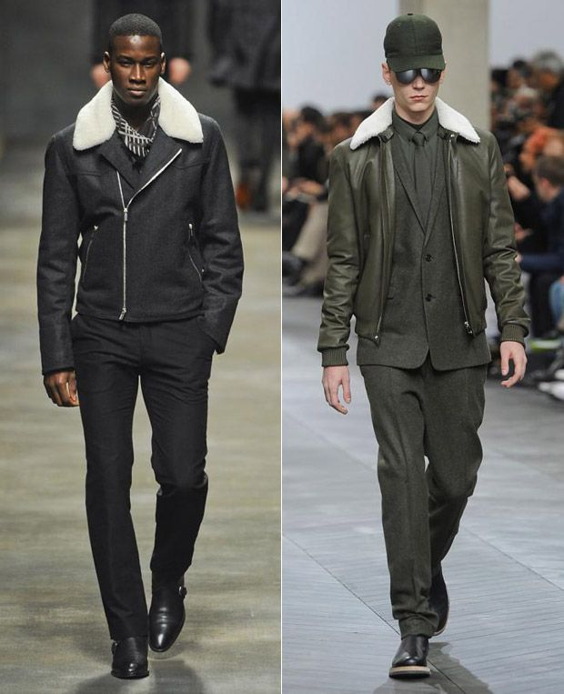 0fa2b560a1 Men's shearling bombers at Hermes and Dior Homme, F/W '12 ...