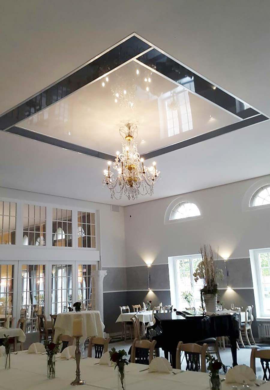 Deckengestaltung Im Restaurant Oberhausen Plameco Spanndecken Spanndecken Restaurant Deckengestaltung