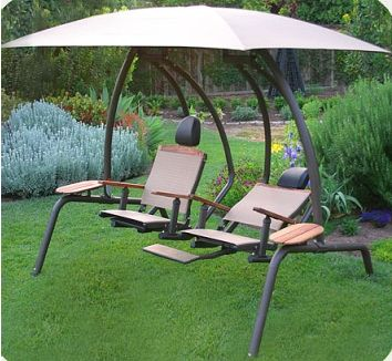 The Ultimate Dual Recliner Swing Set Outdoor Porch