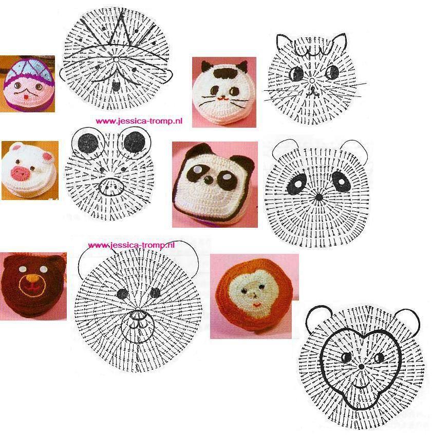 Caritas patrones de crochet infantiles patrones crochet - Patrones monederos ganchillo ...