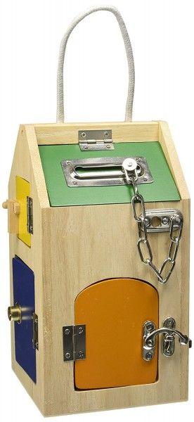 maison serrures pour enfant jouet en bois ducatif. Black Bedroom Furniture Sets. Home Design Ideas