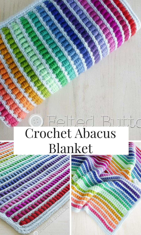 Crochet Pattern, Abacus Blanket, Baby, Afghan, Throw #crochet ...