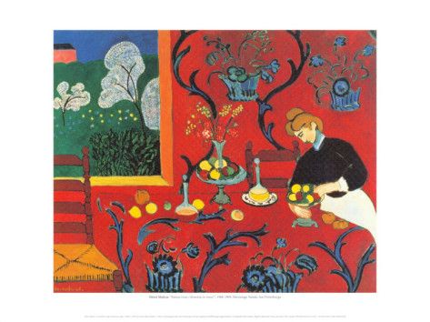 Red Bedroom Prints by Henri Matisse - use in compare/contrast lesson with Van Gogh's Bedroom painting