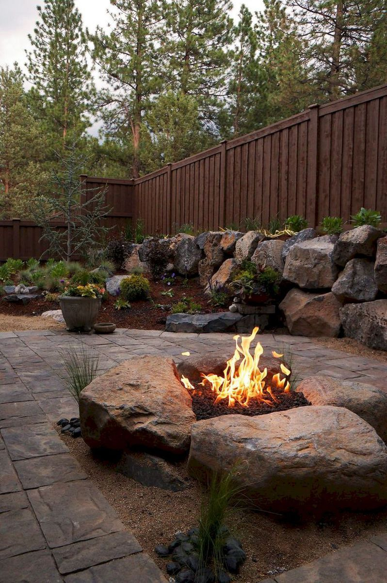 Easy and Cheap Fire Pit and Backyard Landscaping Ideas (35 ...
