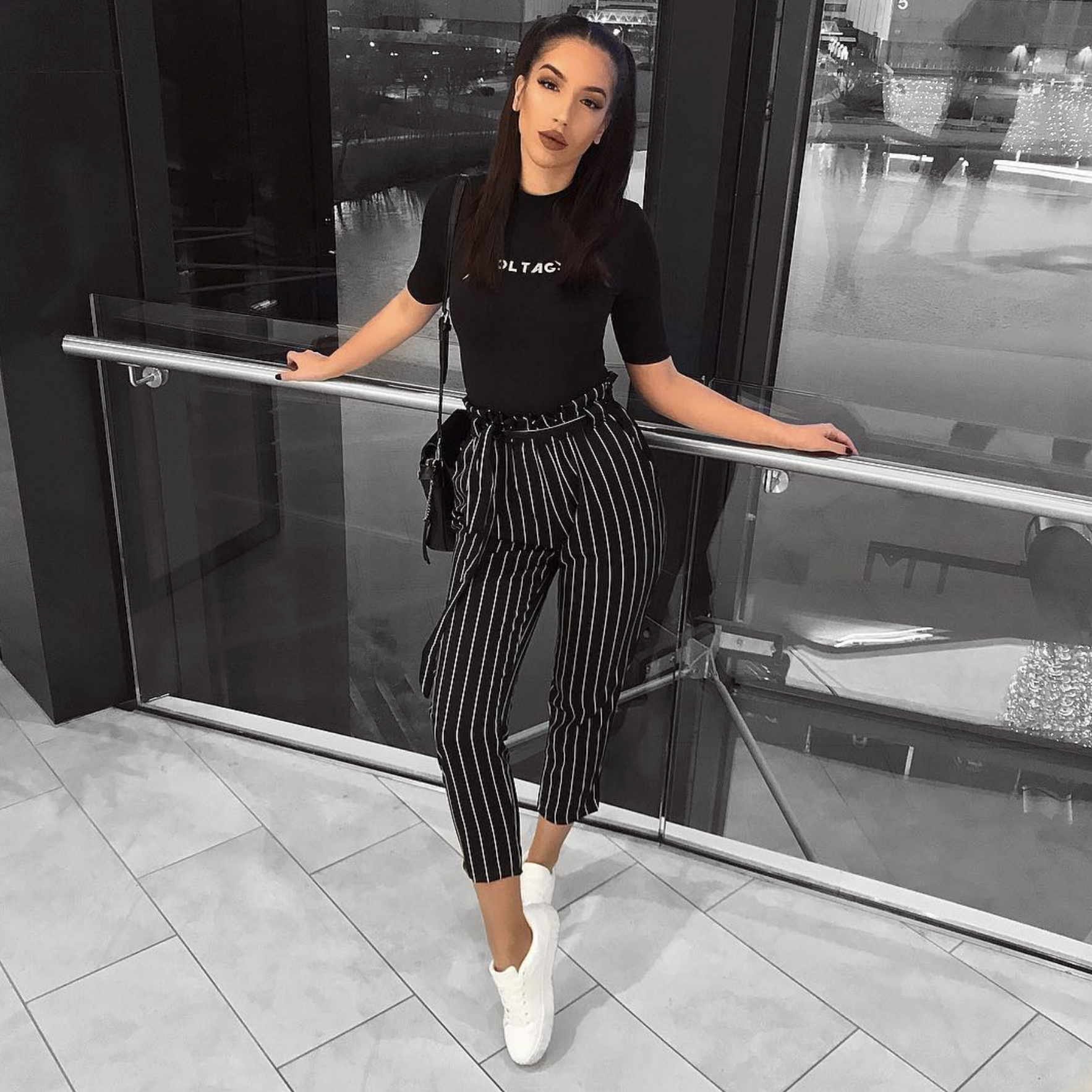 Marcela Pants Black White Fashion Nova Novababes