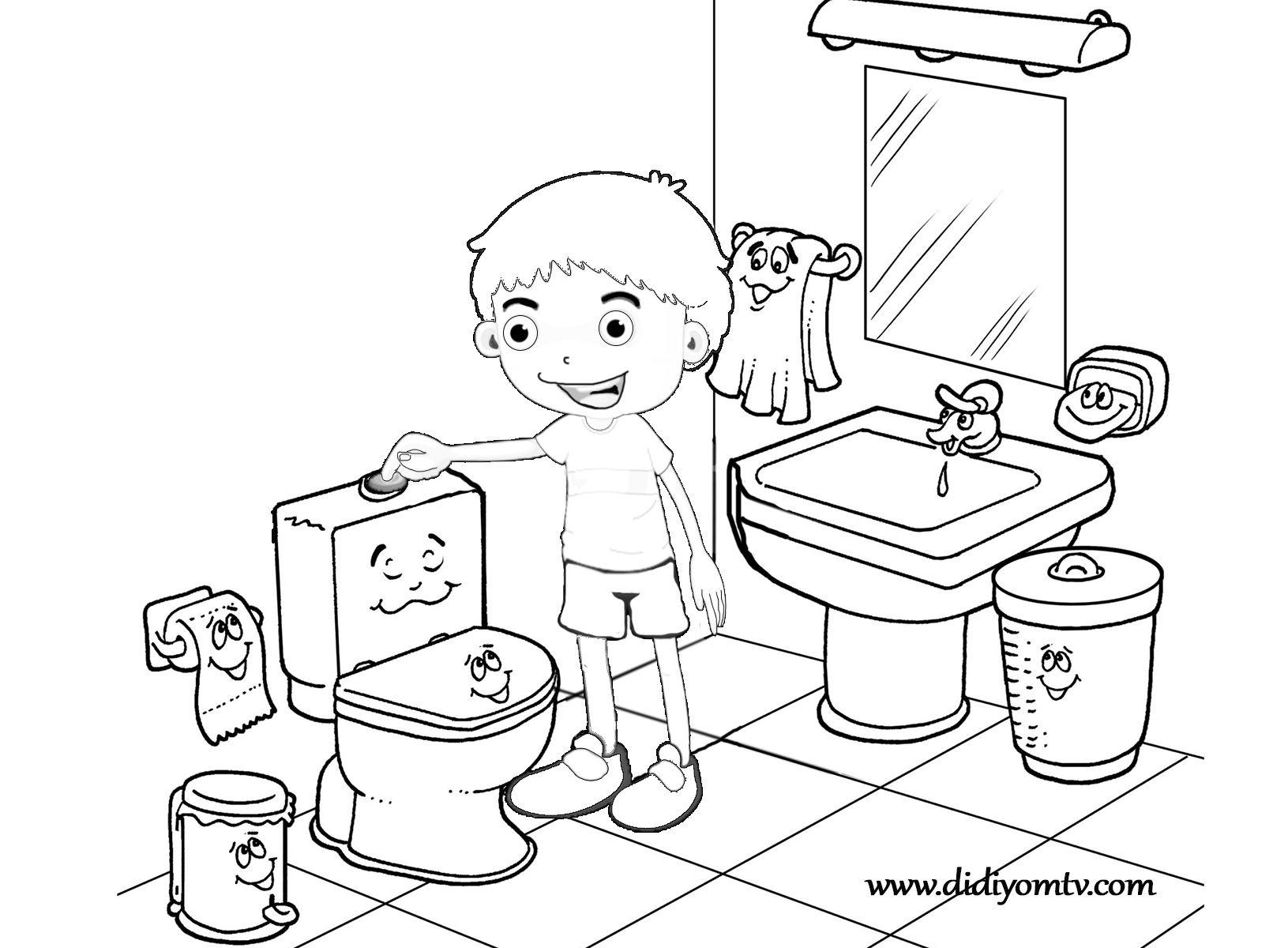 Tuvalet Adabi Boyama Sayfasi Boyama Sayfalari