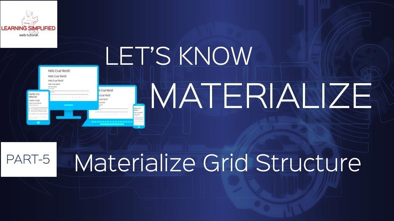 Materialize Css Crash Course Grid Structure Learning Web Crash