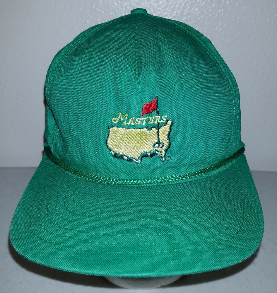 81fd37c0412 Rare Augusta Masters Hat American Needle Golf Embroidered Green Cap One  Size Vtg  Augusta Masters  Golf  Hat  Cap  USA  AmericanNeedle