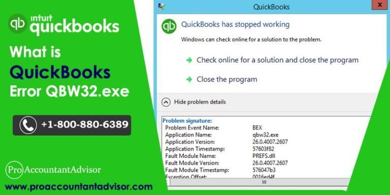 Steps to Fix QuickBooks QBW32.exe Error - Application Error Message