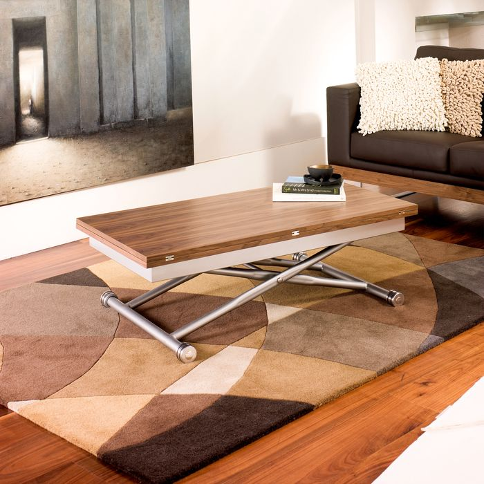 Extendable Coffee Table | Rise Extending Coffee Table Walnut Dining Table Pinterest