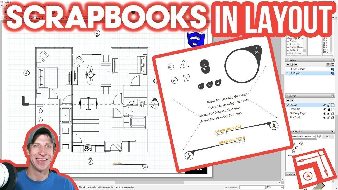 How To Use Scrapbooks In Layout Layout Scrapbooks Sketchup