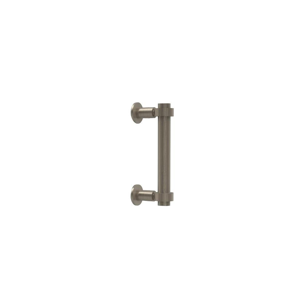 Allied Brass Contemporary 6 in. Back to Back Shower Door Pull in Antique Pewter