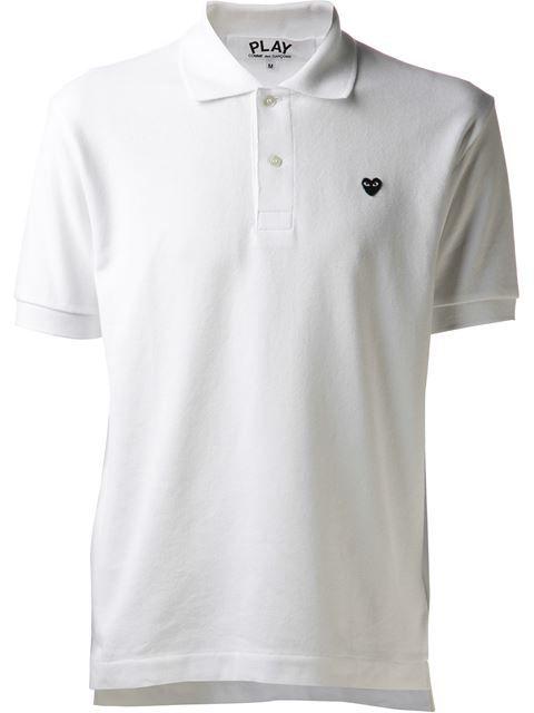COMME DES GARÇONS PLAY mini heart polo shirt. #commedesgarçonsplay #cloth #shirt