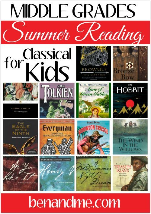 Middle School Summer Reading for Classical Kids | Reading