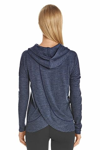 d04dc6a7c7 This UPF 50+ hoodie is amazing! It has a Hooded cowl neckline and it has an  over lapping petal back.