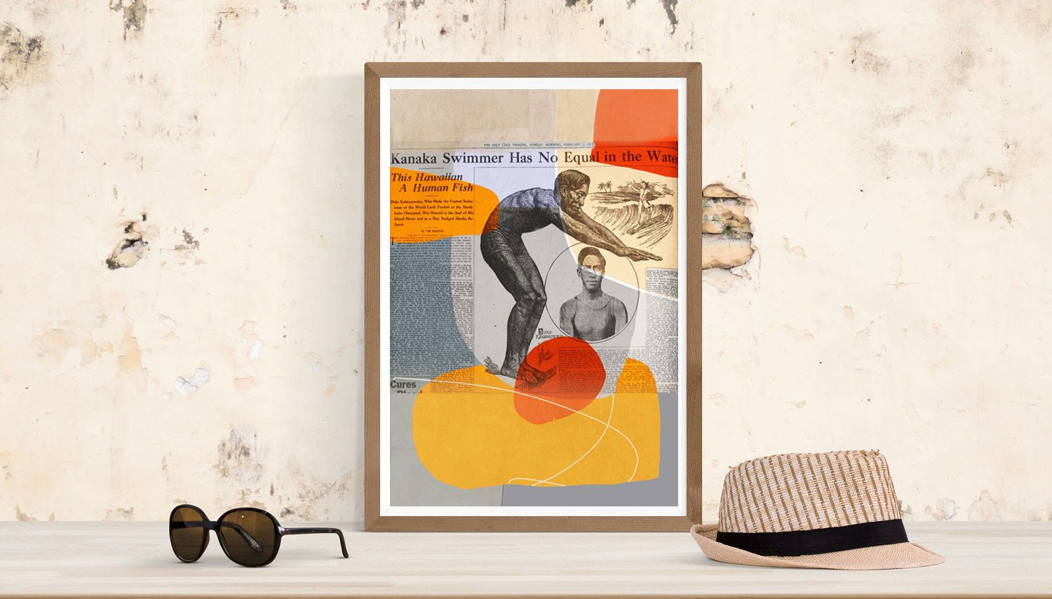 Newspaper Art - Instant Download - Duke Kahanamoku #DownloadNewspaper #NewspaperWallArt #DownloadArt #NewspaperPrint #PrintableNewspaper #NewspaperArticle #DukeKahanamoku #NewspaperArtPrint #NewspaperPoster #NewspaperArt