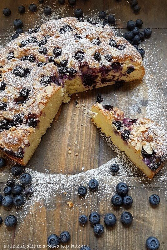 Photo of Fresh out of the oven … blueberry butter cake