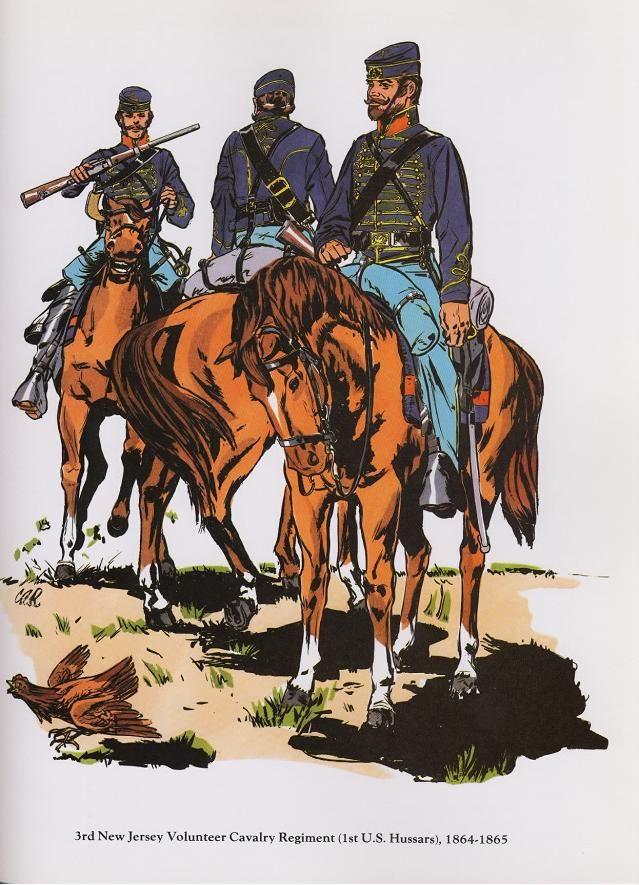 Union; 3rd New Jersey Volunteer Cavalry Regiment(1sy U.S. Hussars ...