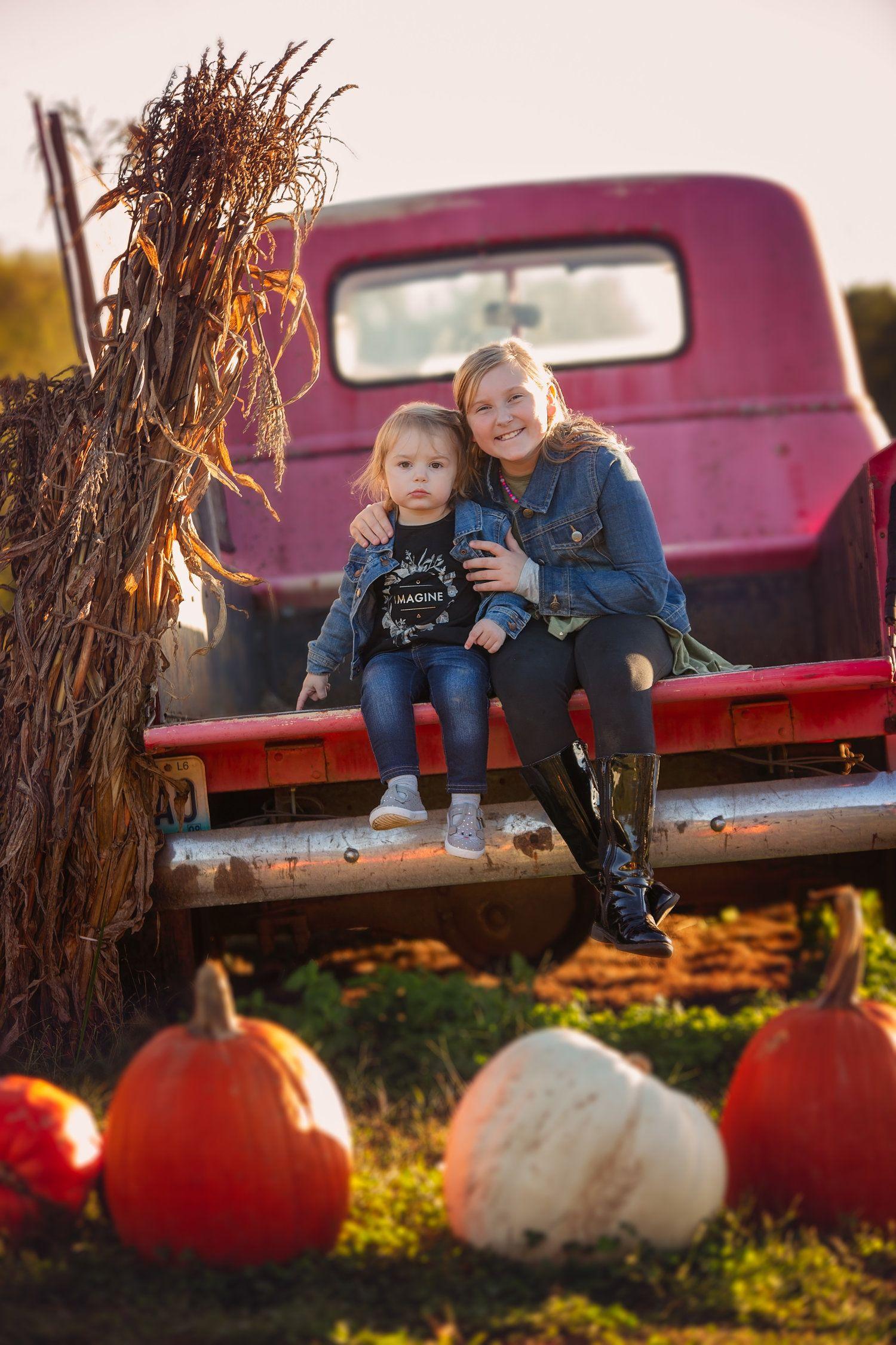 Pumpkin patch fall family photos near Springfield, MO
